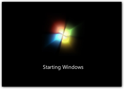 windows 7 beta boots creen