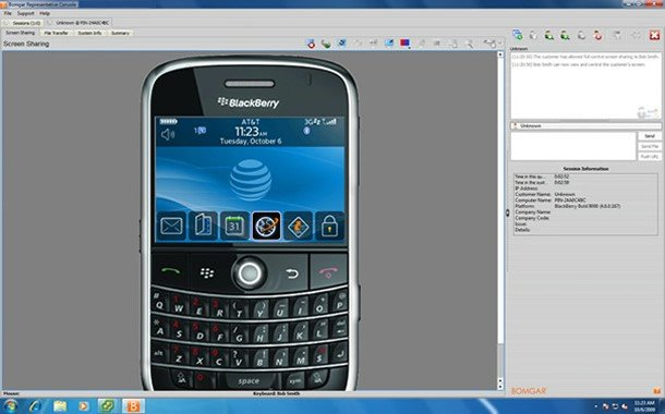 bomgar blackberry-remote-control