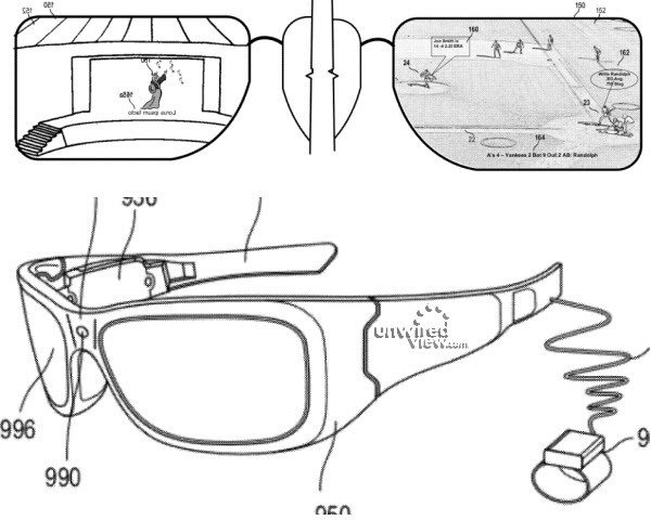 Microsoft's HUD glass - United States patent application 20120293548