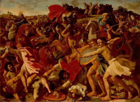 Mobile post apocalypse - Analogy (Poussin, Nicolas: The Victory of Joshua over the Amalekites - An excerpt from the The Jewish Bible)